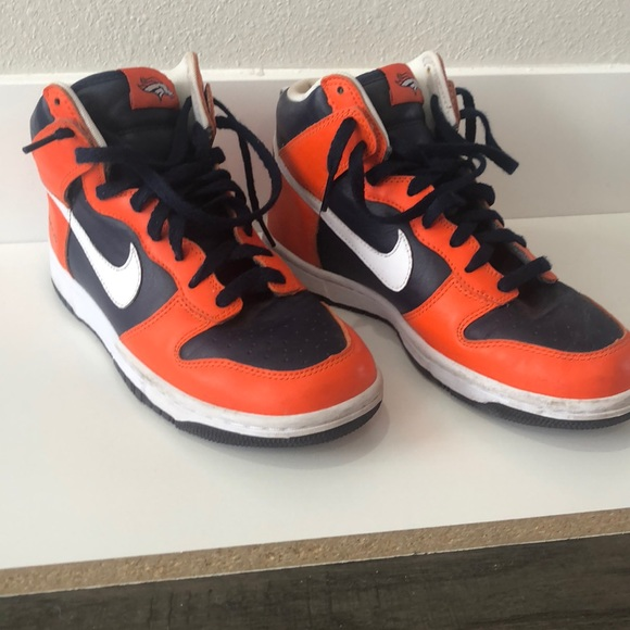 new product b895a 0b8cf WMNS Custom Nike High Tops Denver Broncos Edition.  M 5ab682e58df470c8bd98ddcf
